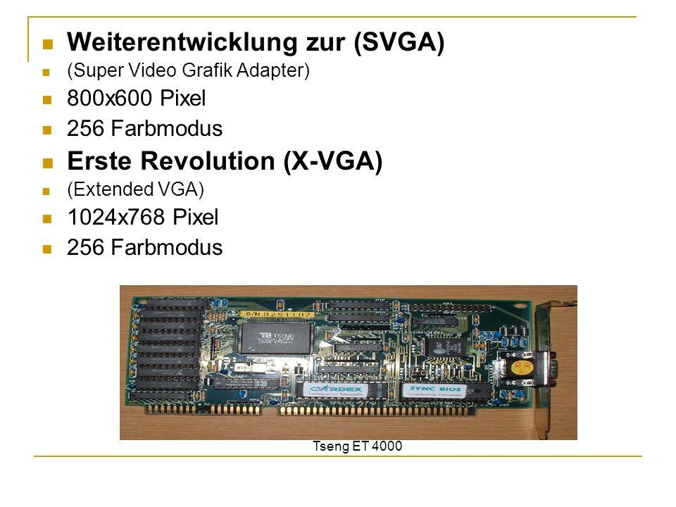Weiterentwicklung zur (SVGA)