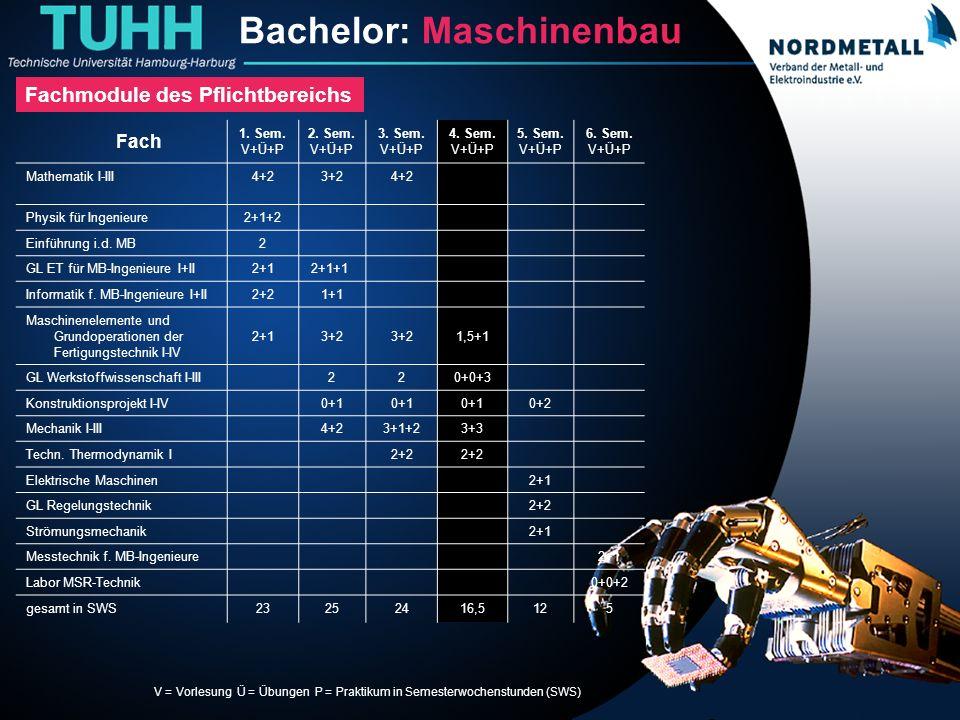 Bachelor: Maschinenbau/Mechatronik (8)