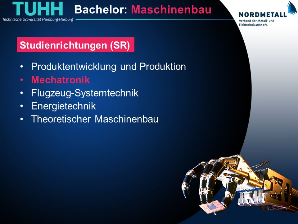 Bachelor: Maschinenbau/Mechatronik (13)