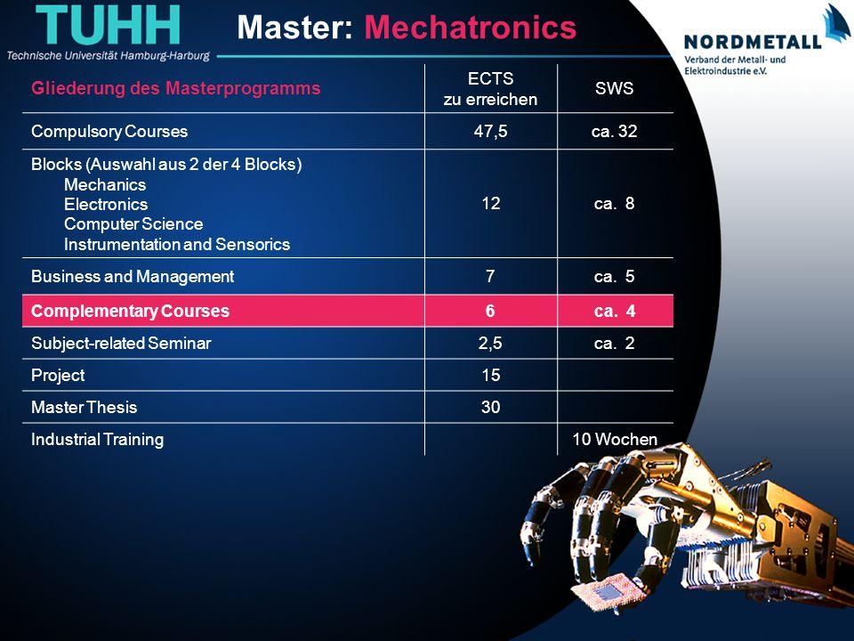 Master: Maschinenbau/Mechatronik (17)