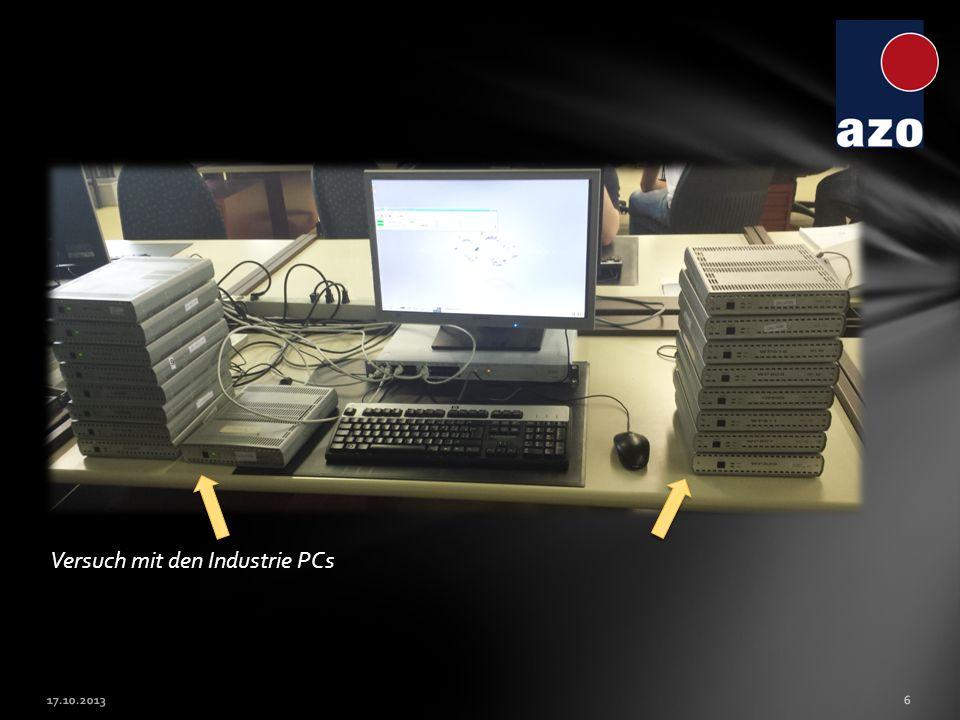 Versuch mit den Industrie PCs