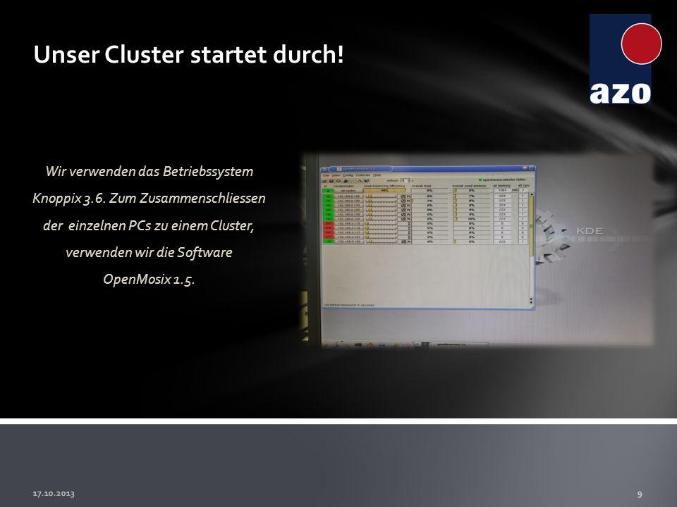 Unser Cluster startet durch!