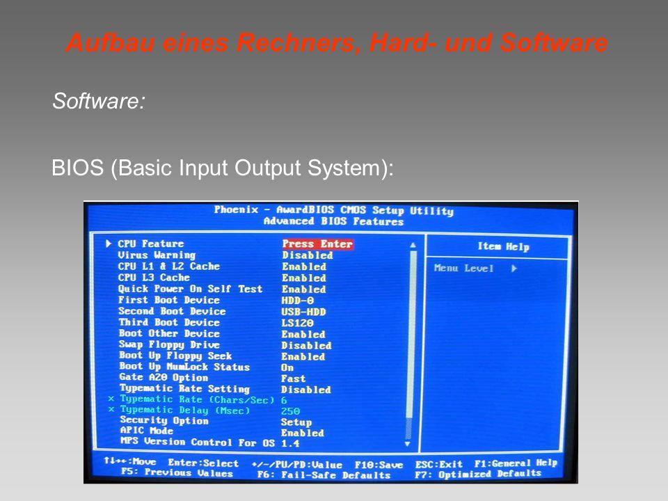 Aufbau eines Rechners, Hard- und Software