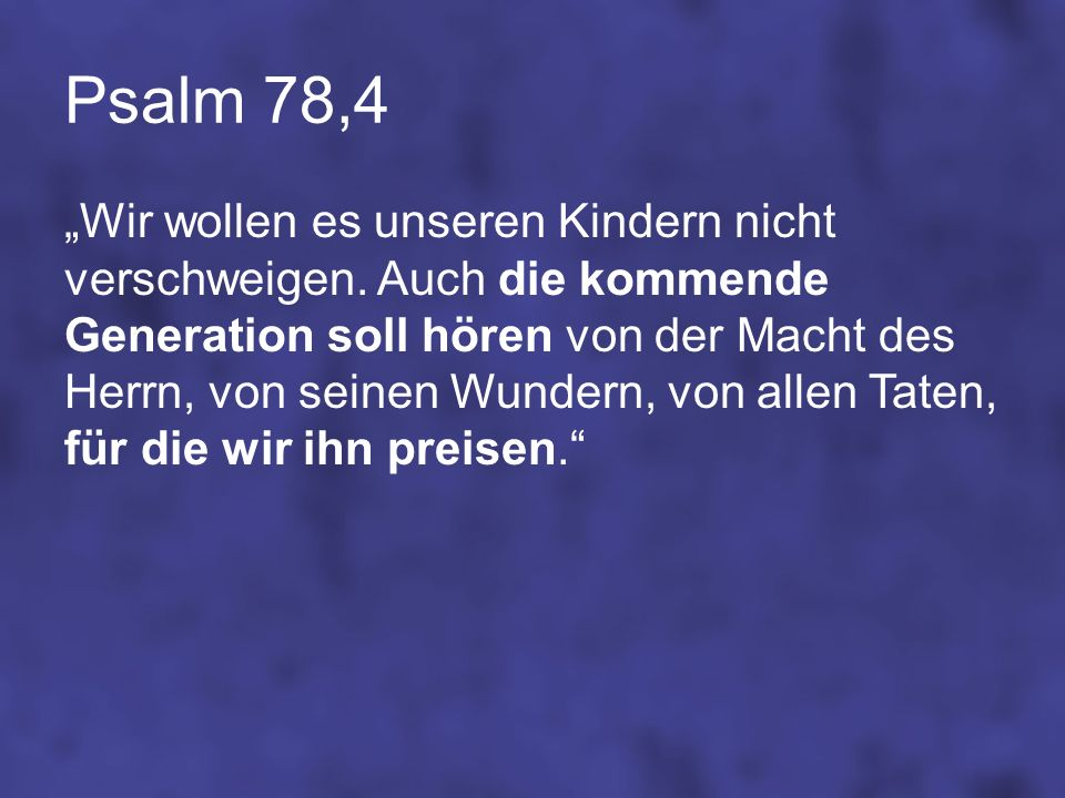 Psalm 78,4