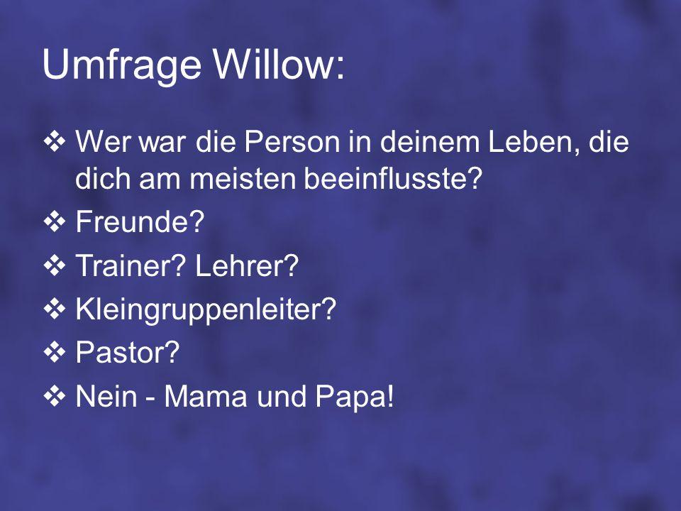 Umfrage Willow: Wer war die Person in deinem Leben, die dich am meisten beeinflusste Freunde Trainer Lehrer