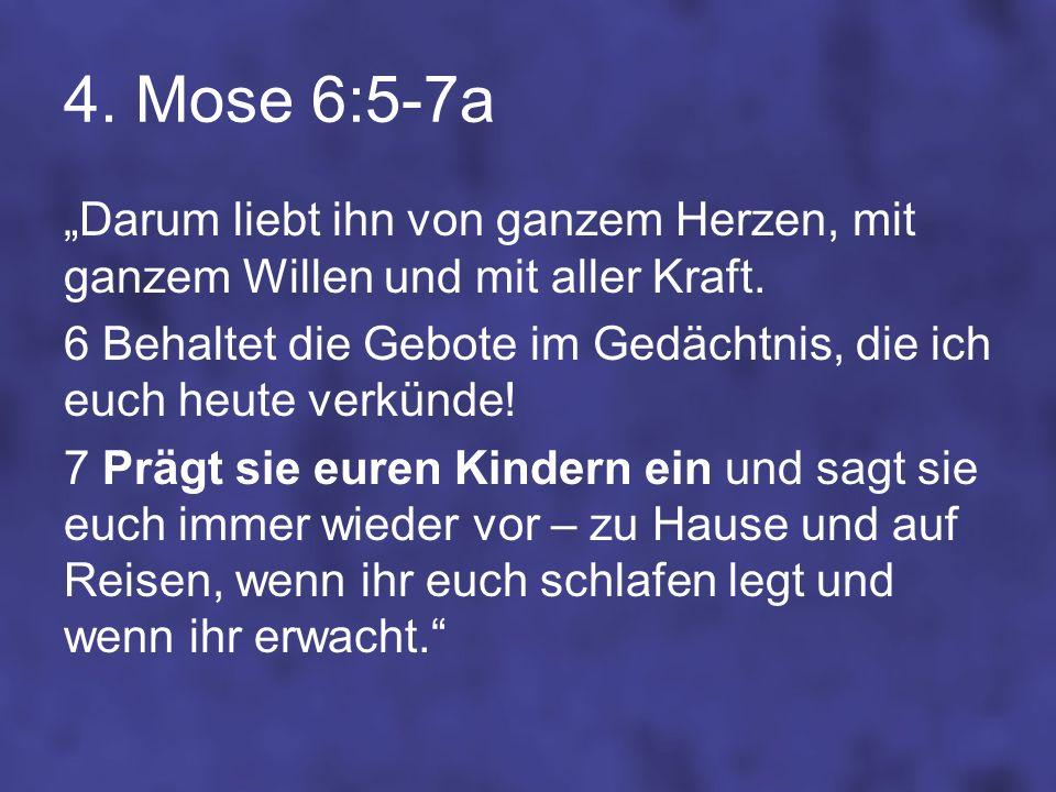 4. Mose 6:5-7a