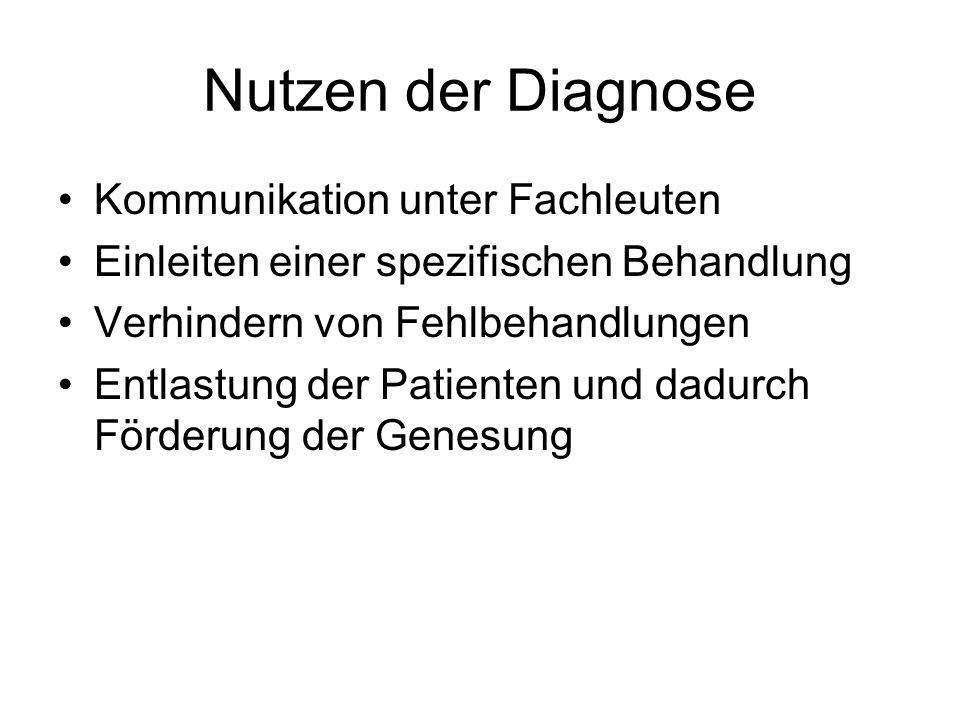 Nutzen der Diagnose Kommunikation unter Fachleuten