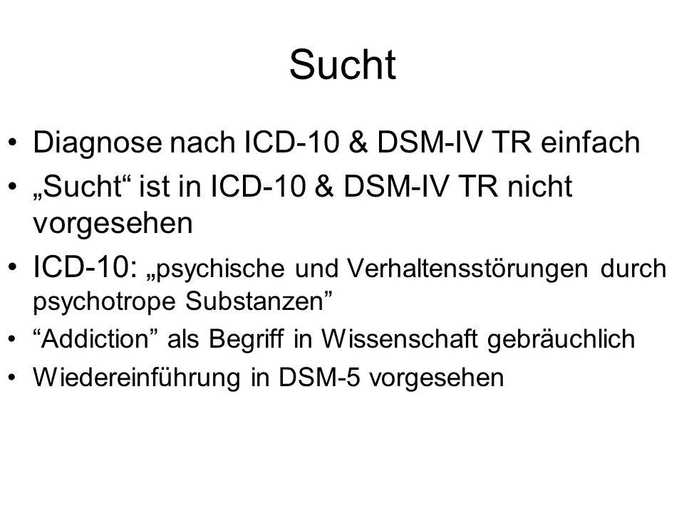 Sucht Diagnose nach ICD-10 & DSM-IV TR einfach