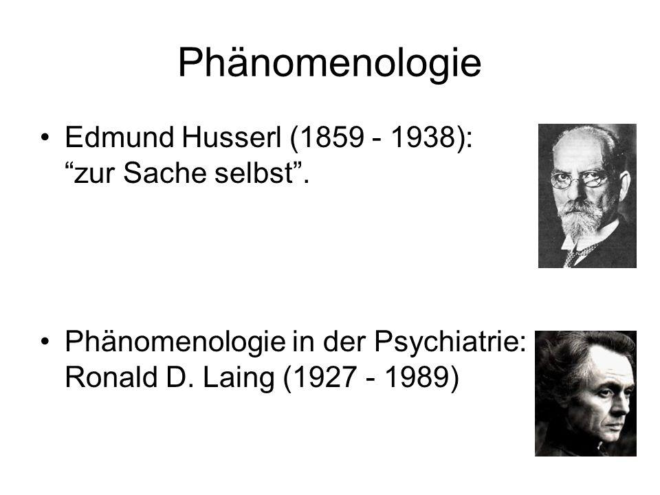 Phänomenologie Edmund Husserl (1859 - 1938): zur Sache selbst .