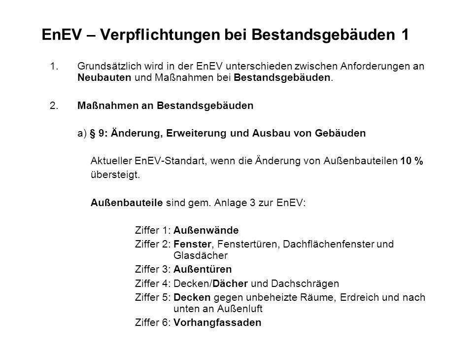 EnEV – Verpflichtungen bei Bestandsgebäuden 1