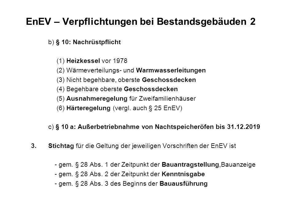 EnEV – Verpflichtungen bei Bestandsgebäuden 2