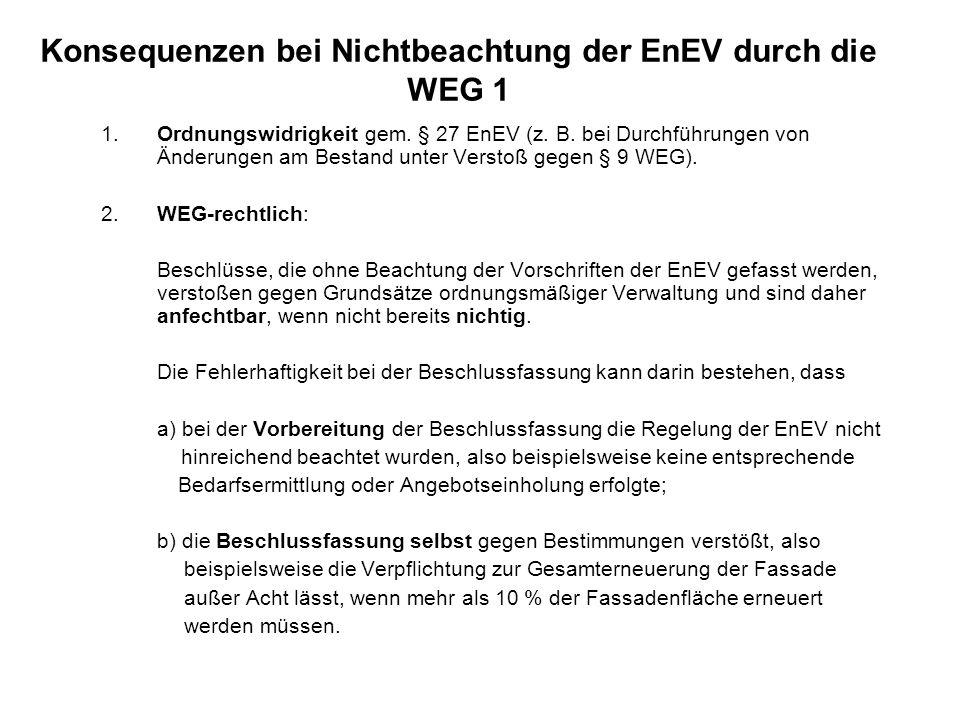 Konsequenzen bei Nichtbeachtung der EnEV durch die WEG 1
