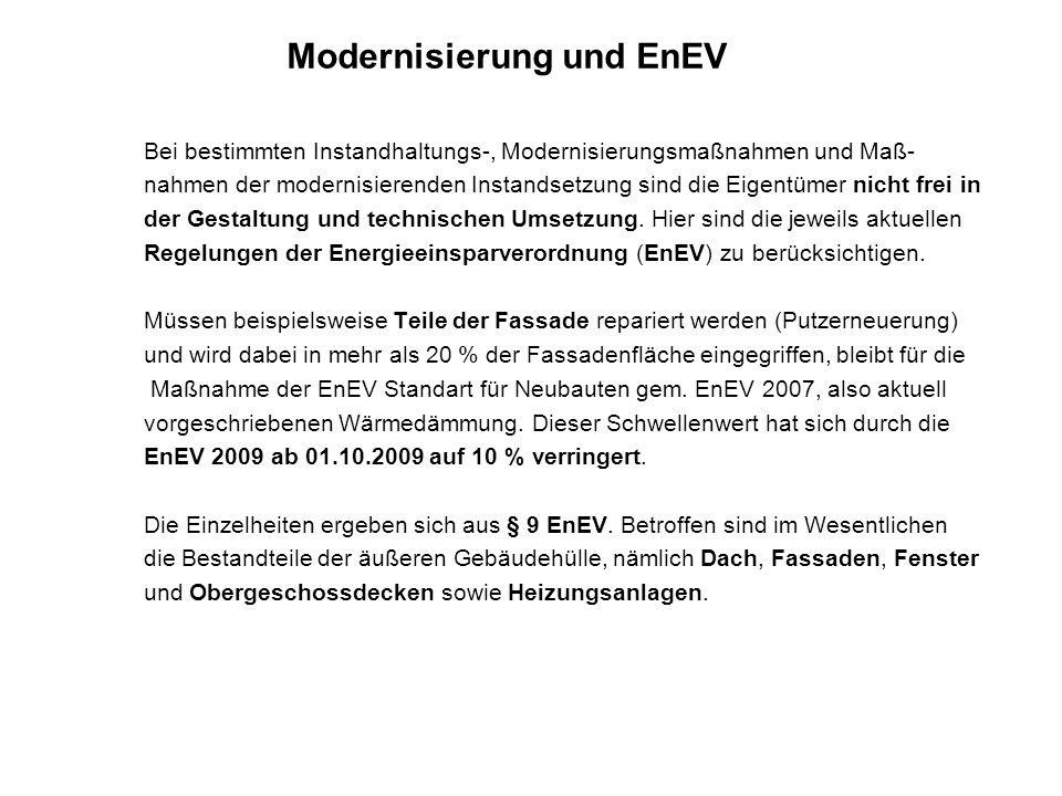 Modernisierung und EnEV