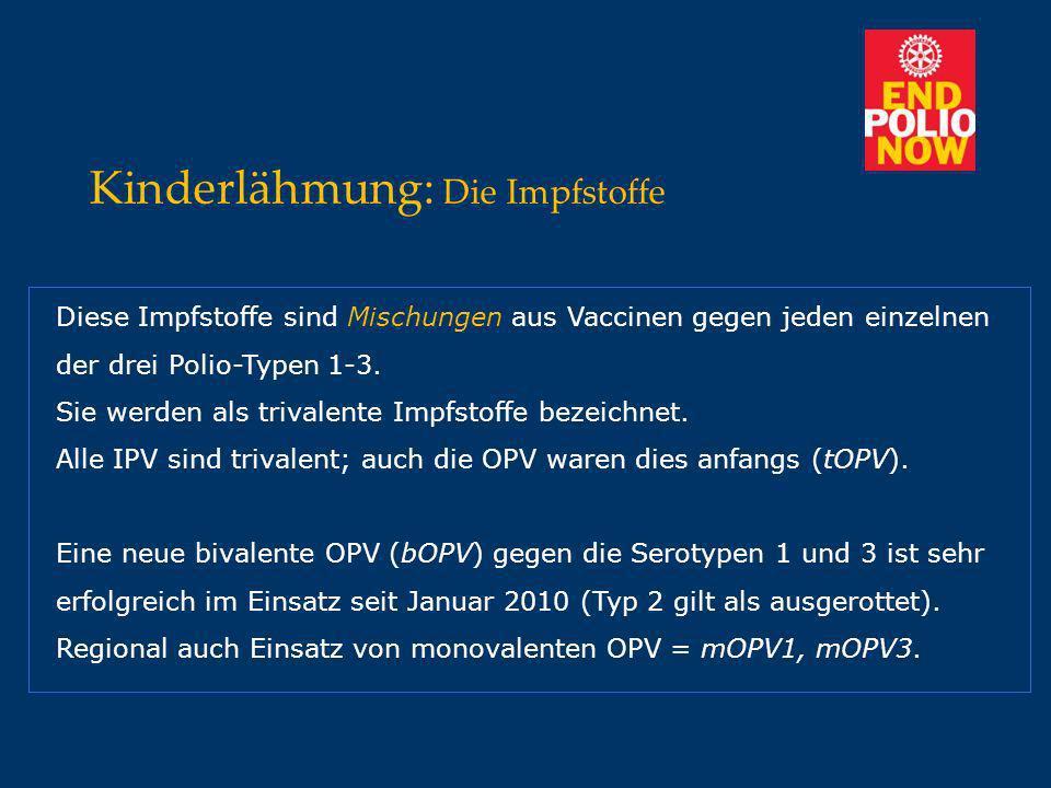Kinderlähmung: Die Impfstoffe
