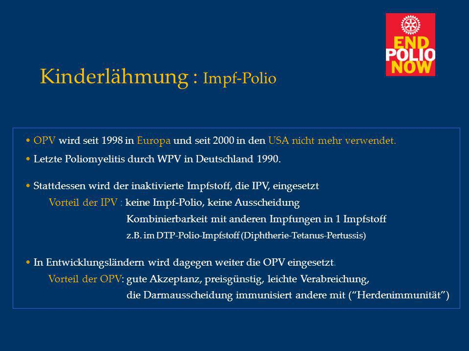 Kinderlähmung : Impf-Polio