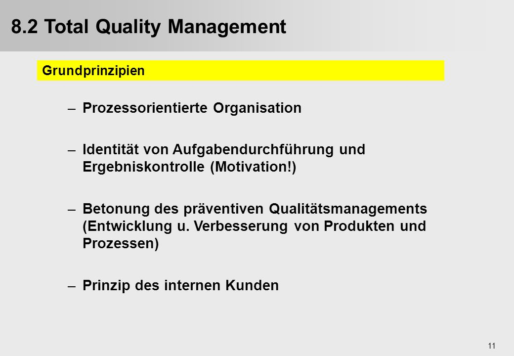 8.2 Total Quality Management