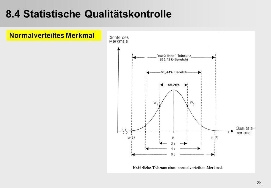 8.4 Statistische Qualitätskontrolle