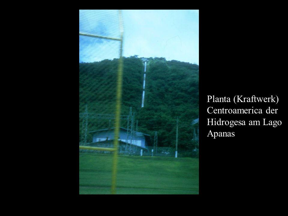 Planta (Kraftwerk) Centroamerica der Hidrogesa am Lago Apanas