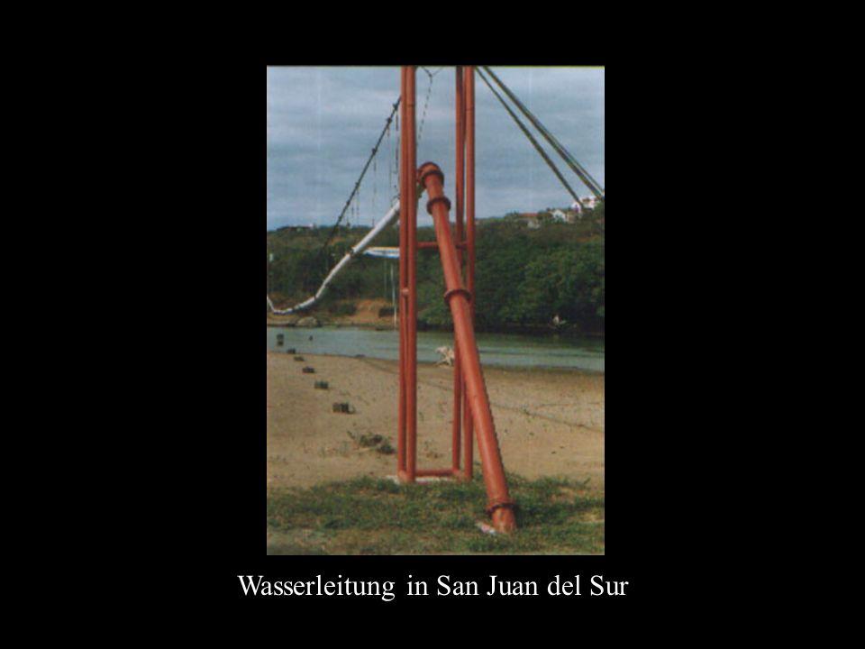 Wasserleitung in San Juan del Sur