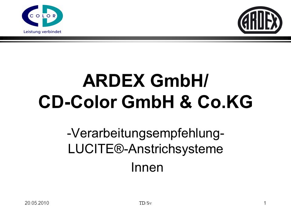 ARDEX GmbH/ CD-Color GmbH & Co.KG