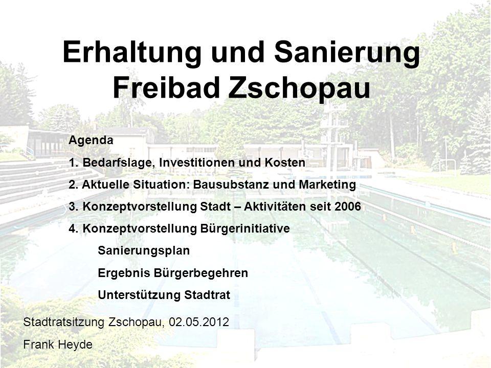 Erhaltung und Sanierung Freibad Zschopau