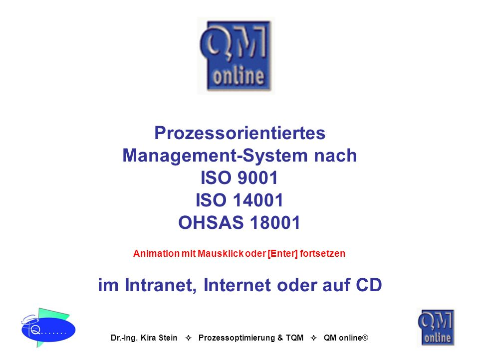 Management-System nach ISO 9001 ISO 14001