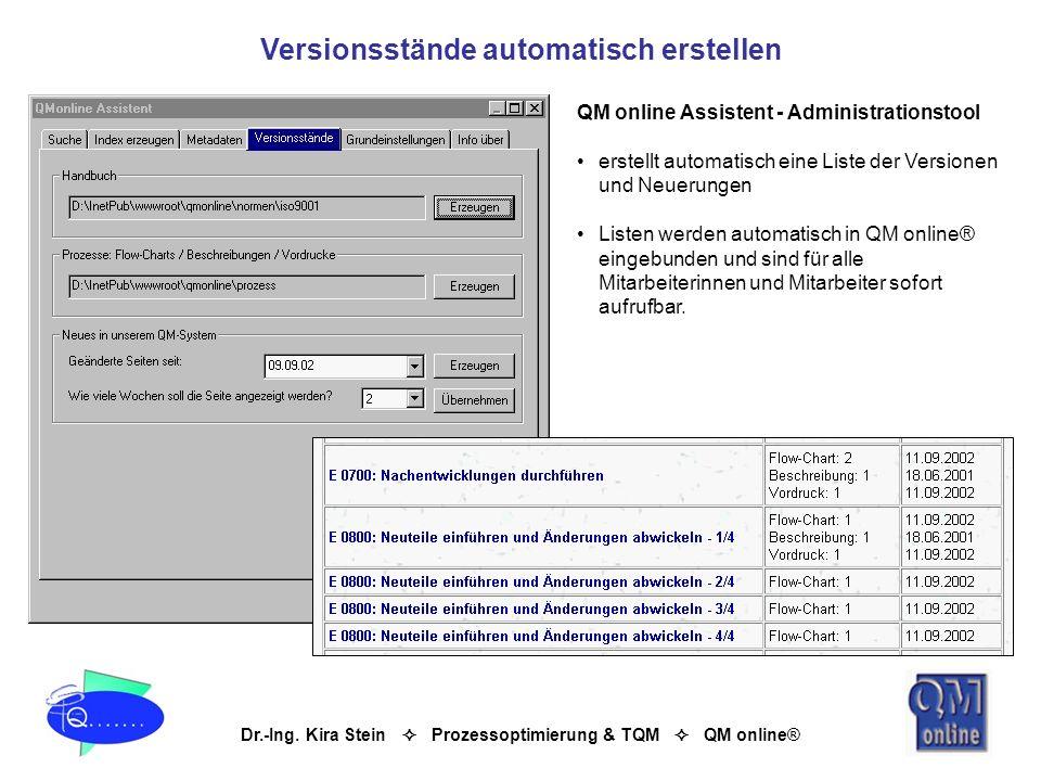 Versionsstände automatisch erstellen