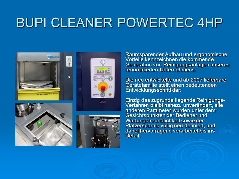 BUPI CLEANER POWERTEC 4HP