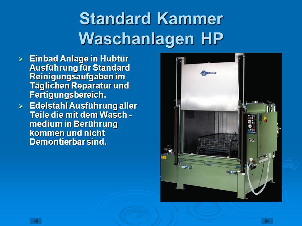 Standard Kammer Waschanlagen HP