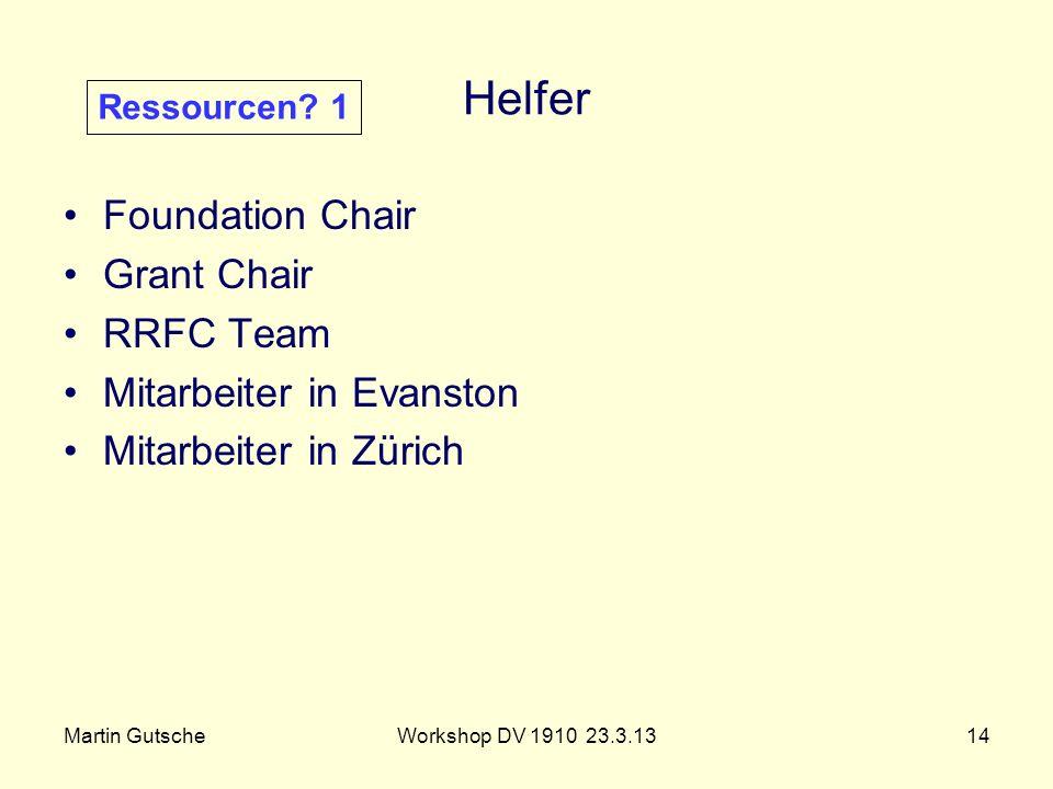 Helfer Foundation Chair Grant Chair RRFC Team Mitarbeiter in Evanston