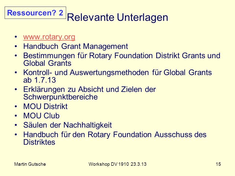 Relevante Unterlagen Ressourcen 2 www.rotary.org