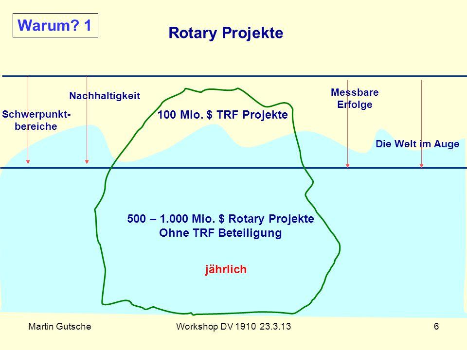Warum 1 Rotary Projekte 100 Mio. $ TRF Projekte