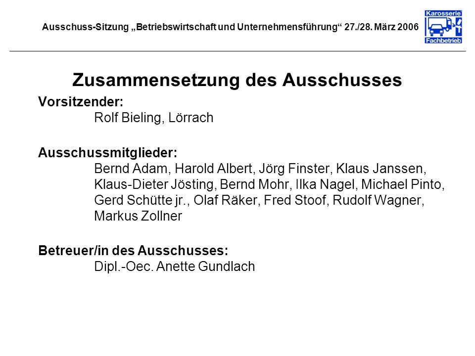 Zusammensetzung des Ausschusses