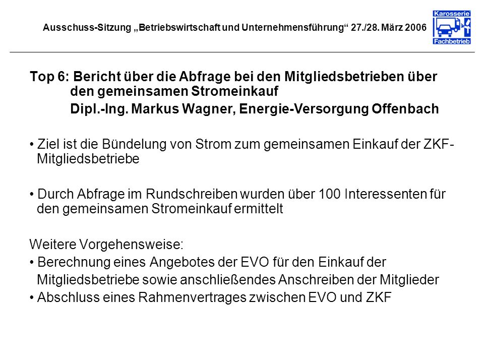 Dipl.-Ing. Markus Wagner, Energie-Versorgung Offenbach