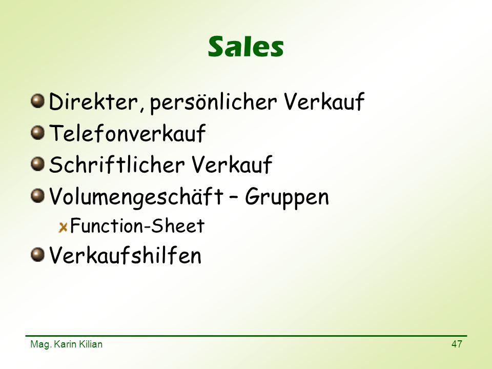 Sales Direkter, persönlicher Verkauf Telefonverkauf
