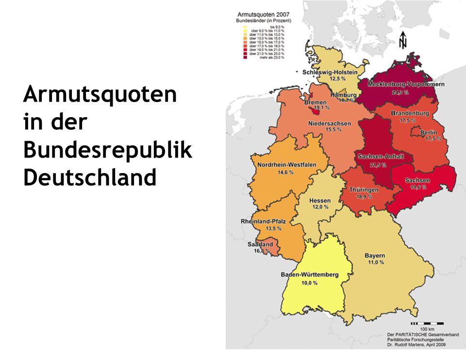 Armutsquoten in der Bundesrepublik Deutschland
