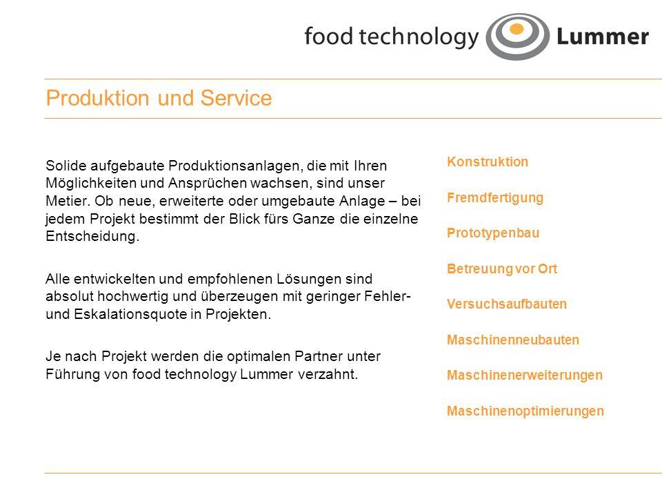 Produktion und Service