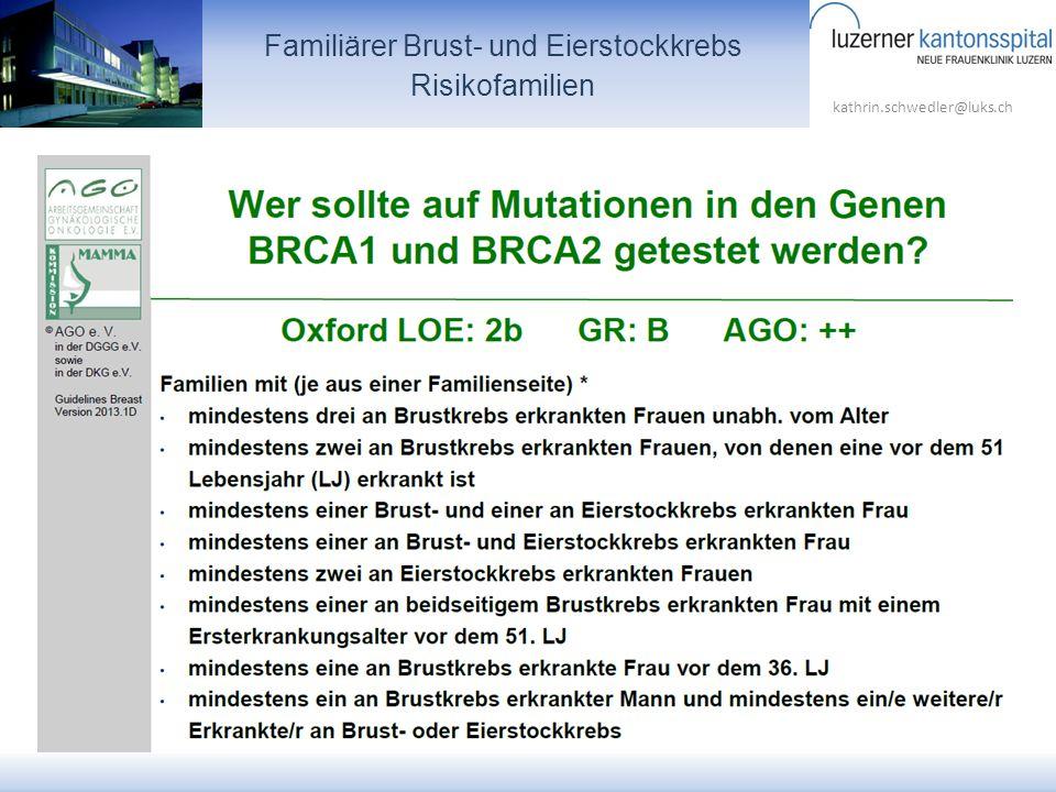 Familiärer Brust- und Eierstockkrebs