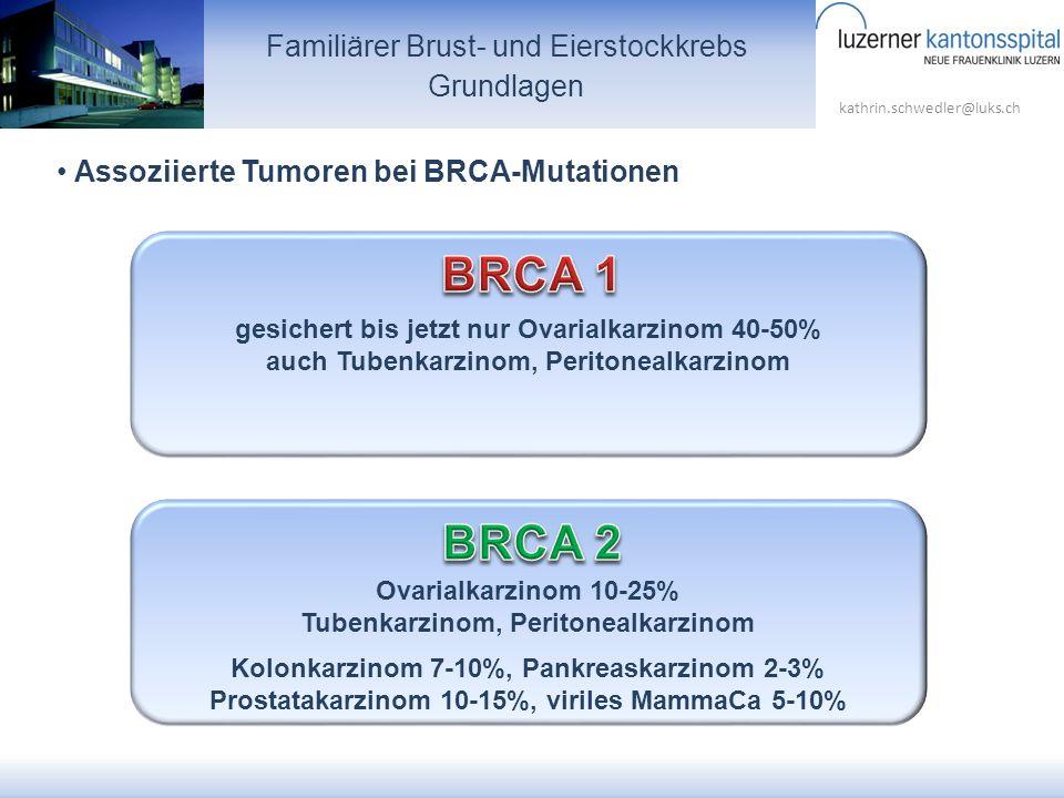 BRCA 1 BRCA 2 Familiärer Brust- und Eierstockkrebs Grundlagen