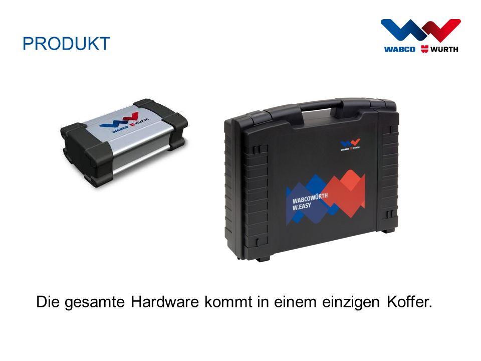 PRODUKT Die gesamte Hardware kommt in einem einzigen Koffer.