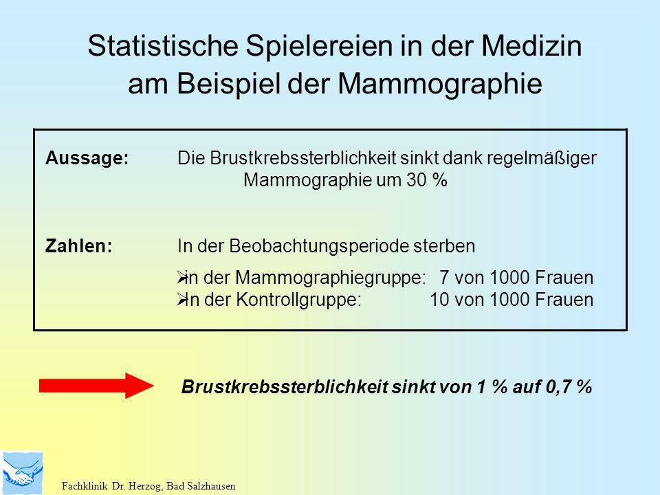 Statistische Spielereien in der Medizin am Beispiel der Mammographie