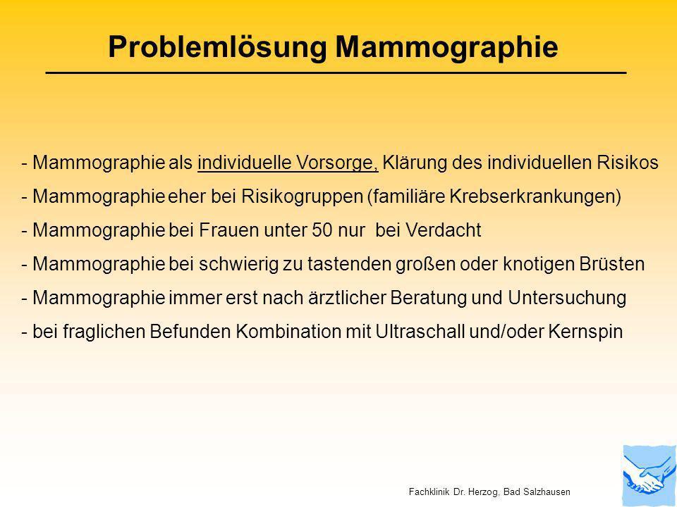 Problemlösung Mammographie