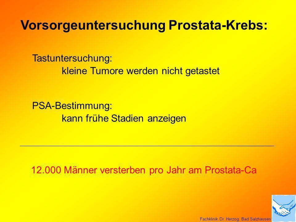 Vorsorgeuntersuchung Prostata-Krebs: