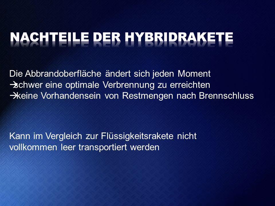 Nachteile der Hybridrakete