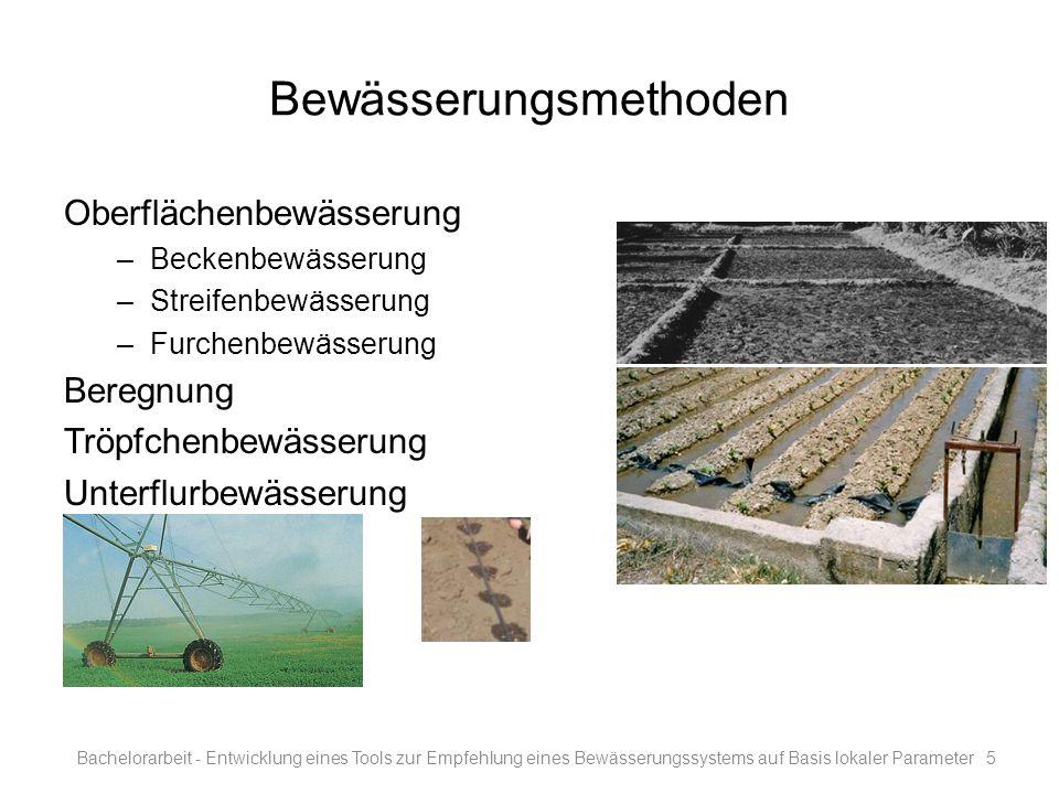 Bewässerungsmethoden