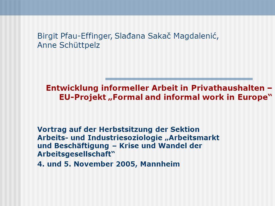 Birgit Pfau-Effinger, Slađana Sakač Magdalenić, Anne Schüttpelz