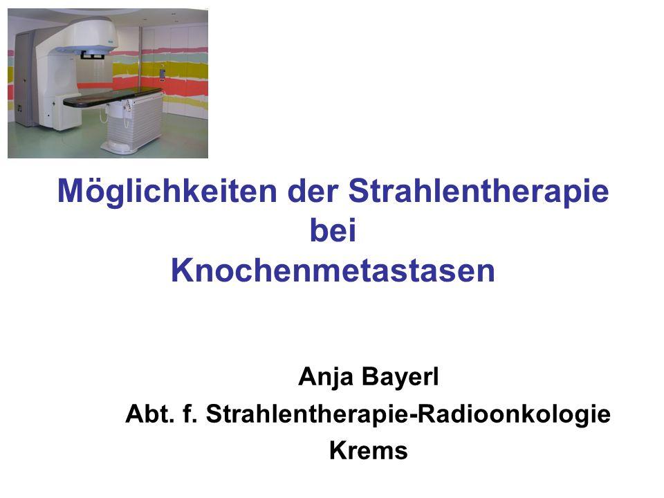 Möglichkeiten der Strahlentherapie bei Knochenmetastasen