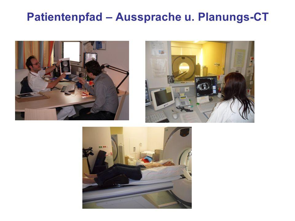 Patientenpfad – Aussprache u. Planungs-CT