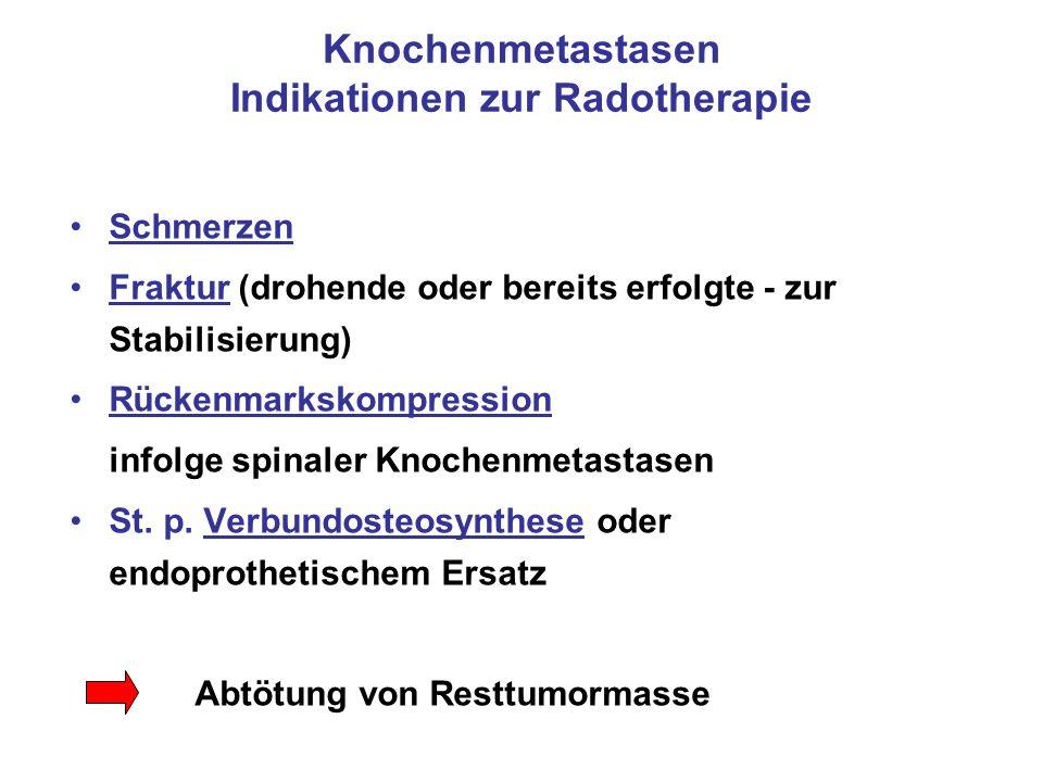 Knochenmetastasen Indikationen zur Radotherapie