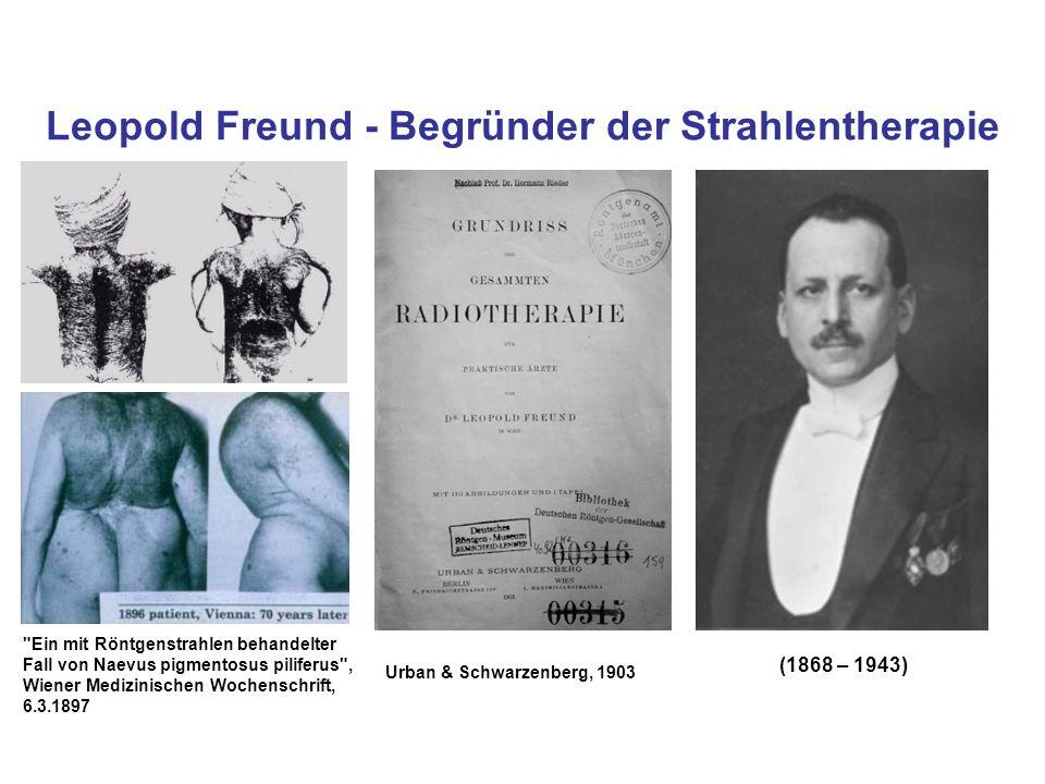 Leopold Freund - Begründer der Strahlentherapie